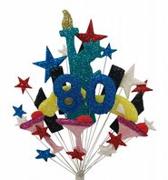 New York 80th birthday cake topper decoration - free postage